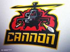 Apache Helicopter Gaming Logo by Derrick Stratton