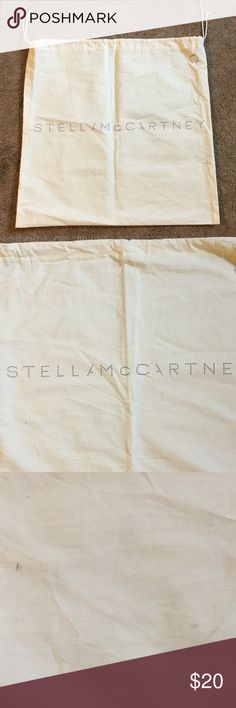 """Stella McCartney Dust Cover Stella McCartney Dust Cover, 20.25"""" by 19.5"""", some dark marks, see picture 3 & 4, priced accordly Stella McCartney Bags"""