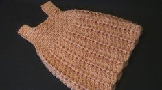Crochet Geek : Crochet Baby Dress Camille.  Baby girl gift idea.