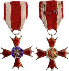 """Czechoslovakia - Order of the White Lion """"For Victory"""" 3 Class (Řád Bílého Lva """"Za Vítězství""""); Spink & Son, London"""