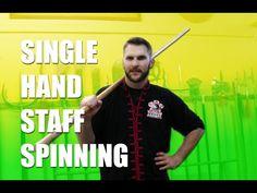 Kung Fu Single Hand Staff Spinning - YouTube