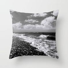 BEACH DAYS XXII BW Throw Pillow