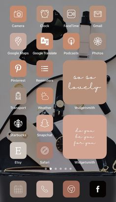 Want a home screen that looks like this? Check out SOSO Branding on Etsy (etsy.com/shop/sosobranding) for app covers to customize your home screen and make it aesthetically pleasing!   iPhone home screen ideas | Home screen inspo | Aesthetic home screen inspiration | Widgetsmith Shortcuts app | Aesthetic home screen inspo | iOS 14 widget photos | iOS 14 app covers | iOS 14 app icons Tinder Tips, Microsoft Visio, Shortcut Icon, Any App, App Covers, Open App, Brown Aesthetic, Icon Pack, Facetime