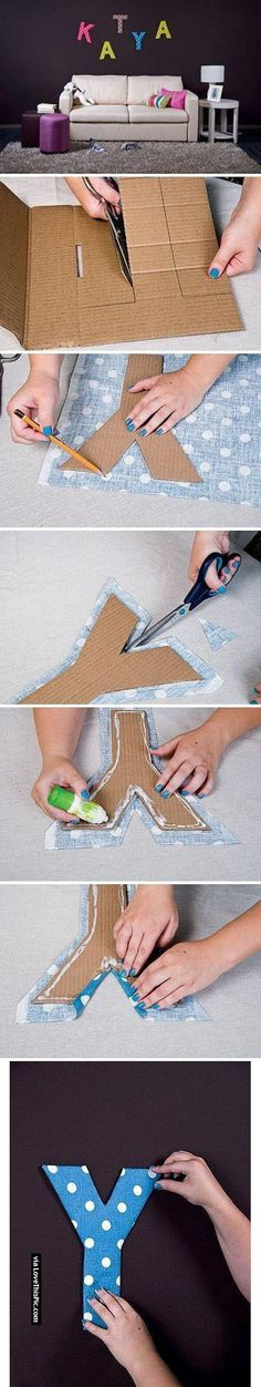 DIY Fabric And Cardboard Wall Letters Pictures, Photos, and Images for Facebook, Tumblr, Pinterest, and Twitter