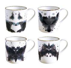 Rorscharch mugs.