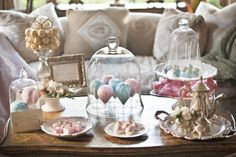 """Candy arrangement setup.. Glass covering mimics the glass that contained the rose in Disney's """"Beauty & The Beast"""" film. Bringing more magic to the party! #projectdressme"""