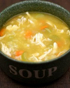 Easy Chicken and Rice Soup Recipe on twopeasandtheirpod.com So easy! Perfect for a weeknight meal!