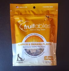 #vegan Fruitables Dog Treats Pumpkin Banana