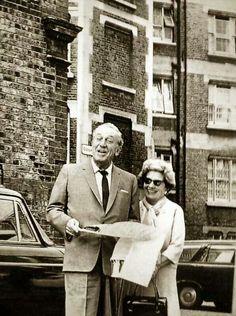 Walt and Lillian on Disney Street in London