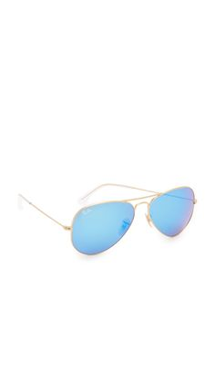 Mirrored Matte Classic Aviator Sunglasses