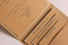 DIY Tutorial: Kraft Pocketfold Invitations