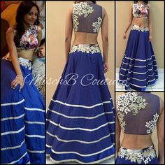 Bold blues by MischB Couture