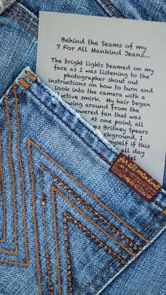 Where did these jeans travel? Click here to read the story of 7 For All Mankind Flynt Jeans Pre-Worn-Used Women Designer Jeans $36.00