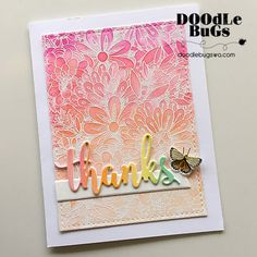 A few weeks back, I created a bunch of backgrounds using the Bundles of Blossoms background stamp from MFT Stamps. Here are a few cards I ...