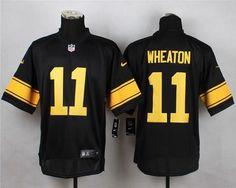 Pittsburgh Steelers  11 Markus Wheaton Black With Yellow Nike NFL Elite  Men s Jersey Pittsburgh Steelers eafc69a73