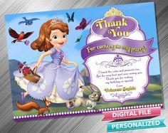 Princess Sofia Thank you card