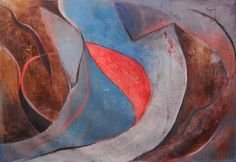 The Floating World: Number Two, 2015, 44 x 64 in., acrylic and oil pastel on canvas