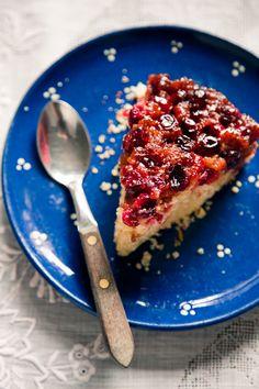 cranberry cornmeal upside down cake. yum!