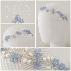 The Forget Me Not Garland Headdress | http://www.hermioneharbutt.com/wedding/hair_accessories/ | #woodland #wedding #inspiration