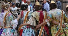 Traditional dress in the Fallas,the spectacular  spring fiesta in Valencia.