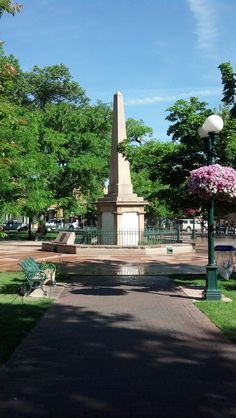 Center point of The Plaza, Santa Fe, NM