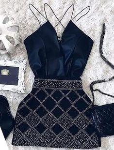 Dots Print Spaghetti Strap Mini Dress homecoming dresses  by olesaweddingdresses, $124.52 USD