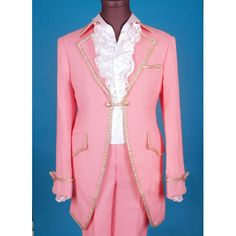 Unique Pink Victorian Period Fashion Outfits Clothing Costume for Men SKU-10108039