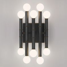 Check out the Robert Abbey Jonathan Adler Meurice 10 Light Wall Sconce in Deep Patina Bronze Modern Wall Sconces, Modern Light Fixtures, Jonathan Adler, Luxury Lighting, Modern Lighting, Robert Abbey Lighting, Dimmable Light Bulbs, Candelabra Bulbs, Ideas
