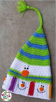 Designed to match: Santa's Reindeer Scarf and Sampler Snowman Scarf