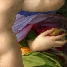"Agnolo Bronzino - ""Venus, Cupid, Folly and Time"" [detail]"