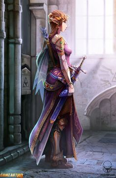 Princess Zelda of Hyrule by Luis Santiago