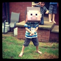 Think inside the box. | 31 DIY Birthday Party Ideas That Will Blow Your Minecraft