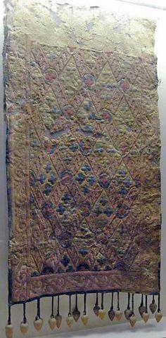 Pazyryk, Altai, Barrow no. 65 x 233 cm. Eurasian Steppe, Iron Age, Felt Applique, Silk Road, Ancient Artifacts, Fabric Painting, Islamic Art, Archaeology, Art History