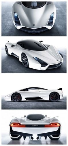 The SSC Tuatara is a future supercar to be produced by SSC North America. Not only is it claiming the Tuatara can accelerate from a stop to 62 mph in 2.3 seconds but can also reach top speeds of 275mph. That would make it the fastest supercar in the world.  source: motorauthority
