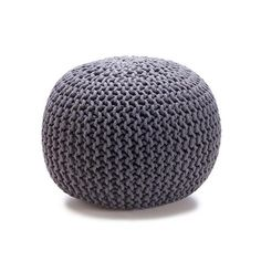 Knitted Ottoman - Charcoal $29.00 Also available in Red, Natural and Teal