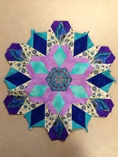Katja Marek's The New Hexagon - Millefiore Quilt-Along: Rosette 1: Progress! By Tracy Pierceall, 1/13/2015