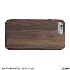 Dark Wood Design Tough iPhone 6 Case