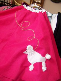 The very classic poodle skirt Grease Costumes, Pink Lady, Poodle, Costume Ideas, Theatre, Sewing Projects, Lovers, Skirt, Classic
