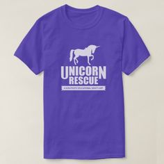 Unicorn Animal Rescue funny animal rescue parody T-Shirt - tap to personalize and get yours