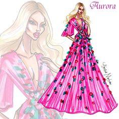 Aurora - Disney Haute Couture - by Armand Mehidri