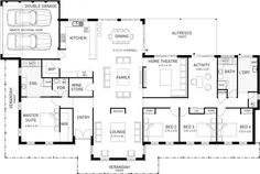 Avon Lodge, Single Storey Master Floor Plan, WA