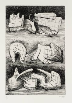 Henry Moore OM, CH 'Three Sculpture Motives', 1970–3 © The Henry Moore Foundation, All Rights Reserved, DACS 2014