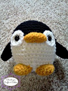 Crocheted Penguin by SilverdragonCrafts on Etsy, $12.00