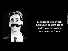 FRASES DE GROUCHO MARX - Sus frases célebres, Famosas, Motivadoras, comediantes - YouTube Che Guevara Books, Phrases And Sentences, Clint Eastwood, Quotations, Inspirational Quotes, Humor, Memes, Youtube, Portal