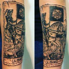 Znalezione obrazy dla zapytania death tarot tattoo
