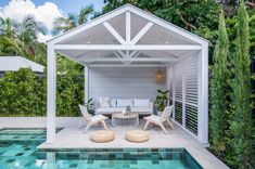 Best 3 Pool Cabana Design Ideas That Will Blow Your Mind - Roof Shingles For Australian Homes Backyard Cabana, Pool Gazebo, Outdoor Cabana, Pool Cabana, Outdoor Gazebos, Backyard Pool Landscaping, Backyard Pool Designs, Swimming Pools Backyard, Outdoor Rooms
