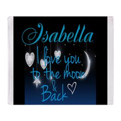 Personalize love to moon and back Throw Blanket on CafePress.com