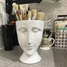 #paintbrushholder #brushholder #facevase @hobbylobby Every Artist needs one of these beauties!!!