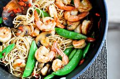 Ginger Lime Shrimp Pasta Substitute spagetti squash for the pasta to lower the calories and avoid processed food