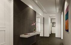Kleur Corridor Appartement : Corridor modern clean finish corridor interiors